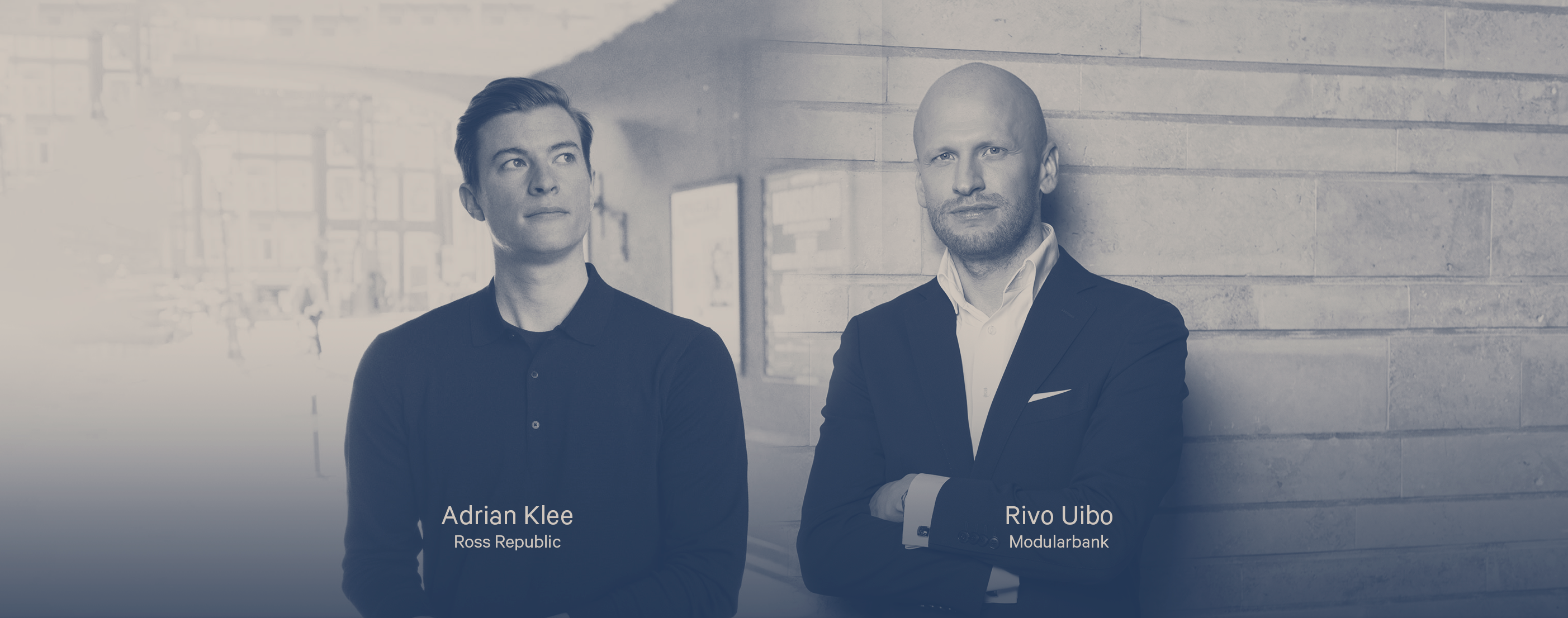 rivo uibo from modularbank and adrian klee from ross republic